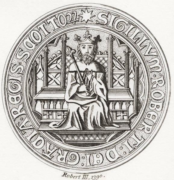 Wall Art - Drawing - Seal Of Robert IIi, Aka Earl by Vintage Design Pics