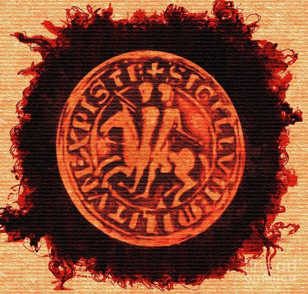 Wall Art - Painting - Seal Of The Knights Templar by Pierre Blanchard