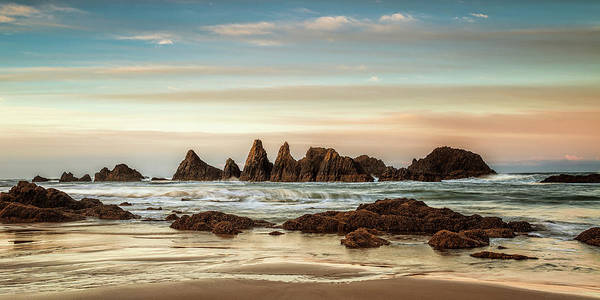 Wall Art - Photograph - Seal Rock Morning Panorama by Andrew Soundarajan