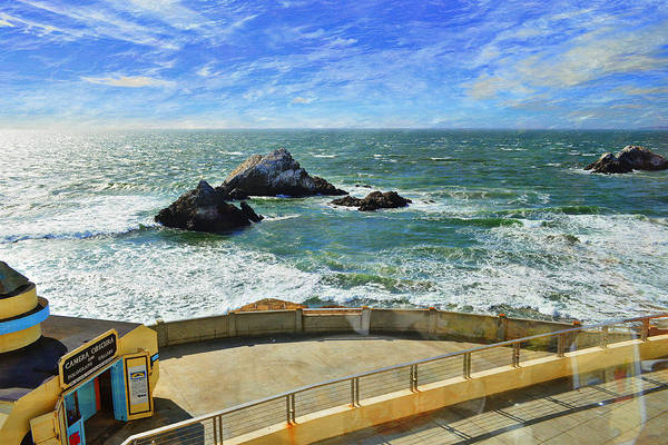 Photograph - Seal Rocks - From The Cliff House Diner by Glenn McCarthy Art and Photography