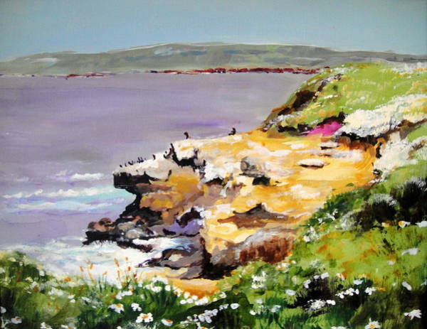 Wall Art - Painting - Seals In The Sun Lajolla Ca by Edith Hunsberger