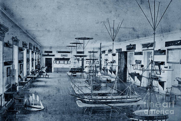 Photograph - Seamanship Room At U S Naval Academy 1870 by California Views Archives Mr Pat Hathaway Archives