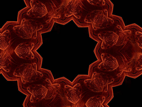 Digital Art - Seamless Kaleidoscope Copper Saturated by Ernst Dittmar