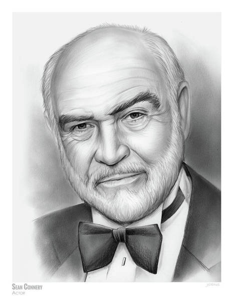 Actor Drawing - Sean Connery by Greg Joens