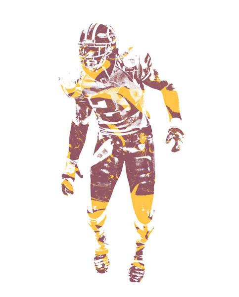 Wall Art - Mixed Media - Sean Taylor Washington Redskins Water Color Art 1 by Joe Hamilton
