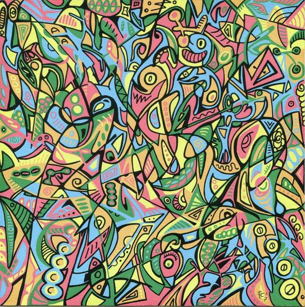 Abstract Expressionist Drawing - Search Soul - Grafitangle 3 by Carlos Cano - Grindilu