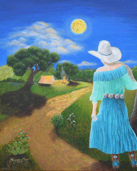 Boot Hill Painting - Searching For Her Elusive Cowboy by Belinda Nagy