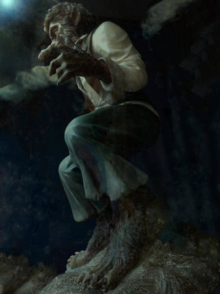 Crouching Digital Art - Searching For Michael by Steve Taylor