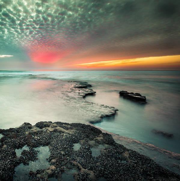 Cardiff Photograph - Searchlight Sunset by Alexander Kunz
