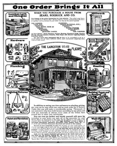 Catalog Photograph - Sears House Ad, 1919 by Granger