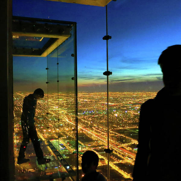 Photograph - Sears Tower Skydeck City Lights Sunset by Patrick Malon