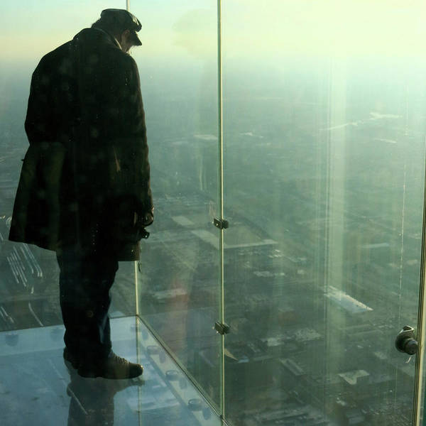 Photograph - Sears Tower Skydeck Ledge Man by Patrick Malon