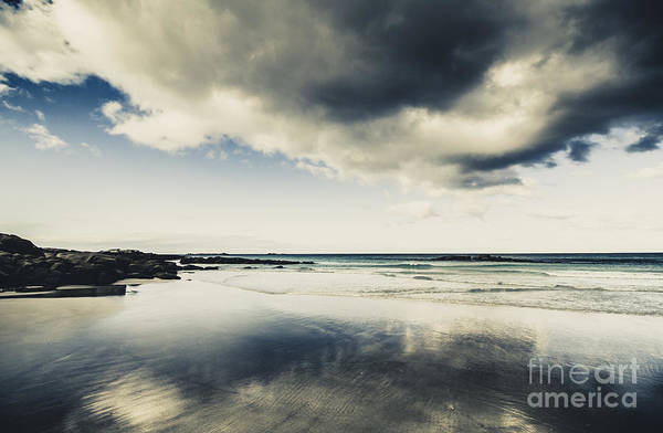 Photograph - Seas And Storm Cloud Reflections by Jorgo Photography - Wall Art Gallery