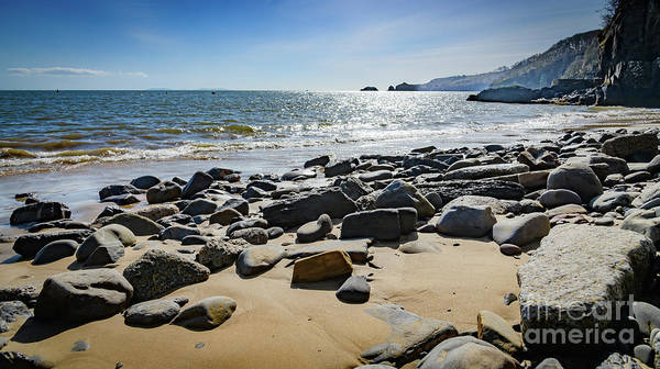Photograph - Seascape At Saundersfoot by Colin Rayner