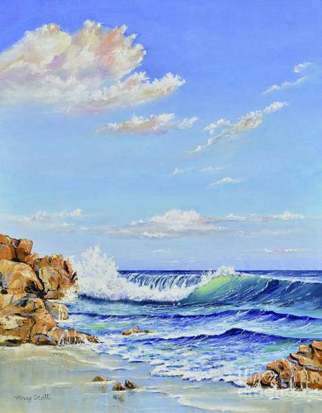 Painting - Seascape Beach by Mary Scott