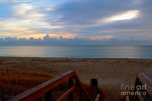 Photograph - Seascape Dawn Morning Splendor Juno Beach Florida B2 by Ricardos Creations