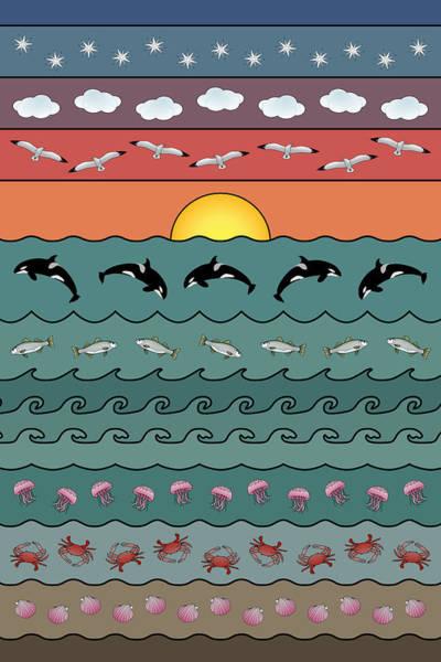 Digital Art - Seascape by Debi Dalio