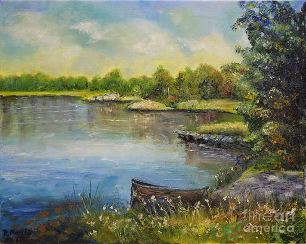 Painting - Seascape From Hamina 4 by Raija Merila
