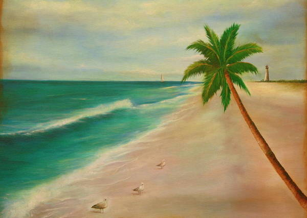 Wall Art - Painting - Seascape by Gabriela Valencia