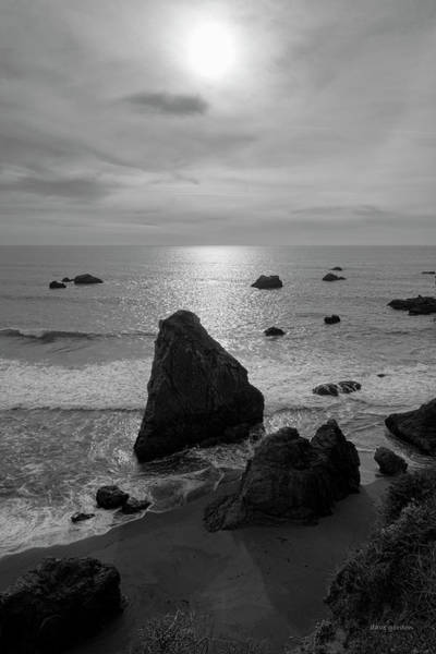 Photograph - Seascape Jenner California I Bw by David Gordon