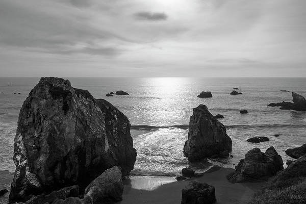 Seascape Jenner California IIi Bw Art Print