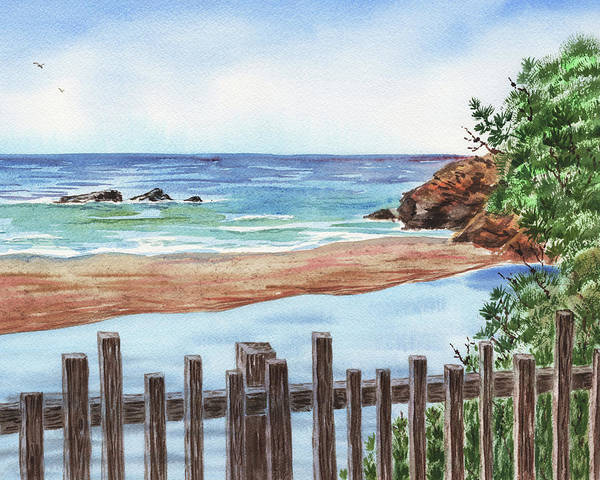 Wall Art - Painting - Seascape Low Tide by Irina Sztukowski