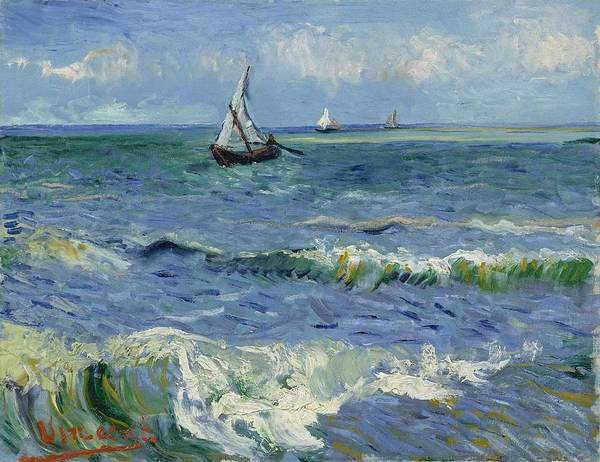 Painting - Seascape Near Les Saintes Maries De La Mer Arles June 1888 Vincent Van Gogh 1853  1890 by Artistic Panda