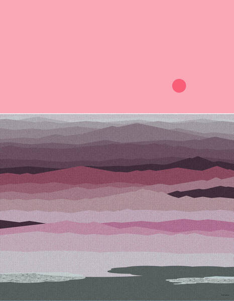 Seascape Pinks Art Print