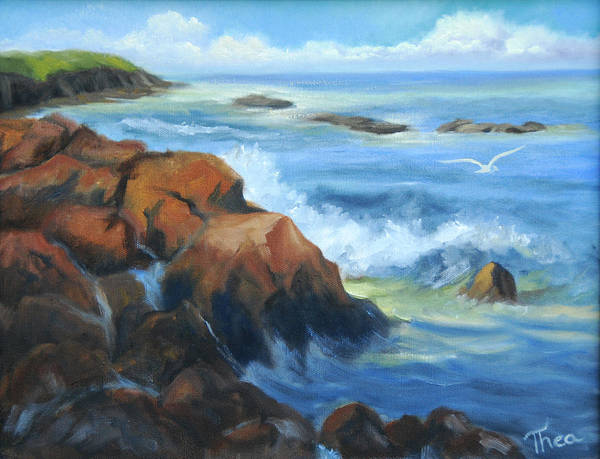 Seascape Art Print by Thea Wolff