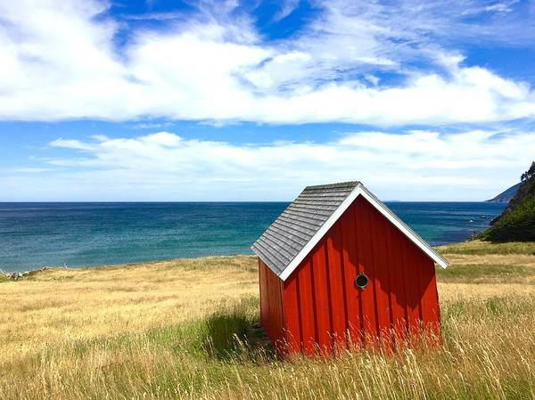 Photograph - Seascape With Red Cabin by Cristina Stefan