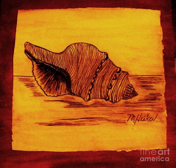 India Ink Wall Art - Digital Art - Seashell From Florida by Marsha Heiken