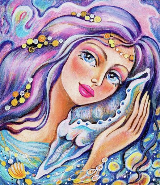 Painting - Seashell Reverie by Eva Campbell