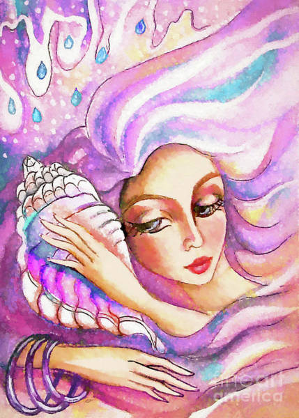 Painting - Seashell Waves by Eva Campbell