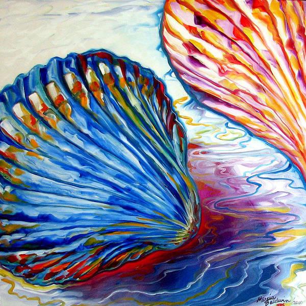 Painting - Seashells Abstract 24 by Marcia Baldwin