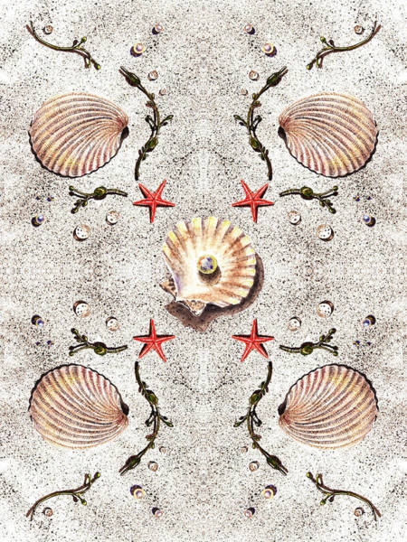 Painting - Seashells Classic Dance by Irina Sztukowski