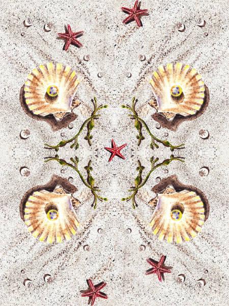 Painting - Seashells Happy Quartet by Irina Sztukowski