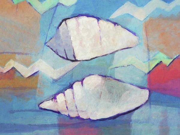 Painting - Seashells Marina by Lutz Baar