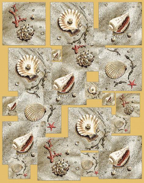 Painting - Seashells On Beige by Irina Sztukowski