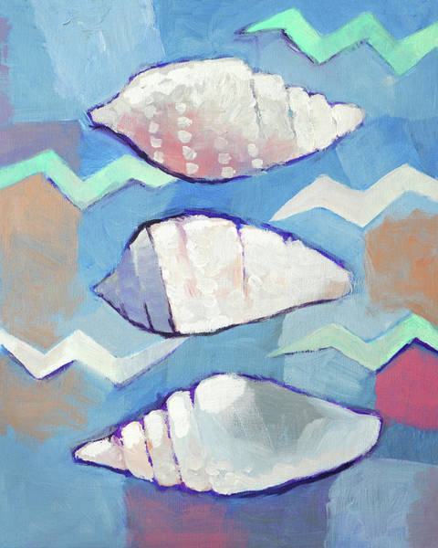 Wall Art - Painting - Seashells Trio by Lutz Baar