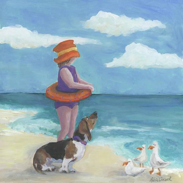 Wall Art - Painting - Seaside 3 by Robin Wiesneth