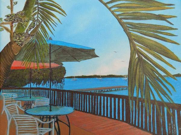 Painting - Seaside Balcony by Tony Rodriguez