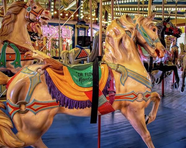 Photograph - Seaside Carousel Stander by Kristia Adams