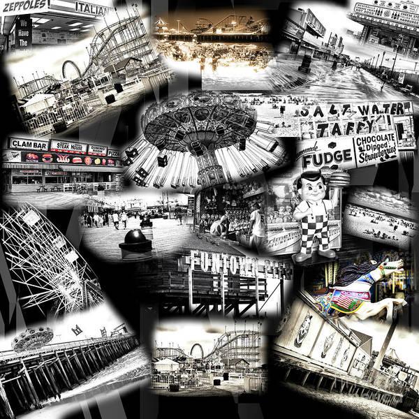 Wall Art - Photograph - Seaside Funtown Collage by John Rizzuto