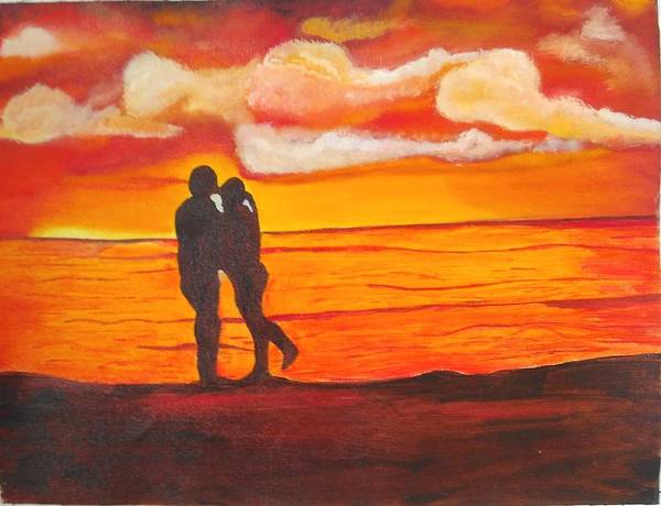Dgt Wall Art - Painting - Seaside Love by Anie