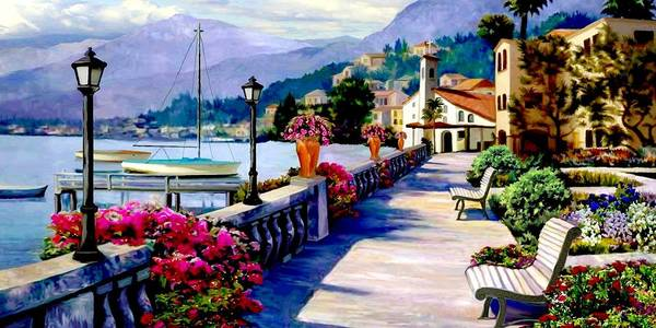 Follow Me Painting - Seaside Pathway 2 by Ron Chambers