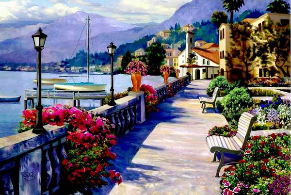 Follow Me Painting - Seaside Pathway by Ron Chambers