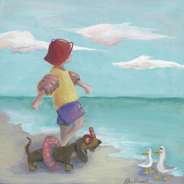 Wall Art - Painting - Seaside by Robin Wiesneth