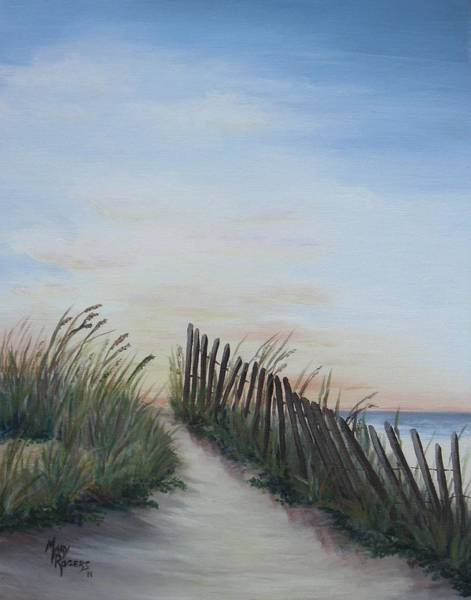 Mary Rogers Painting - Seaside Sunrise by Mary Rogers