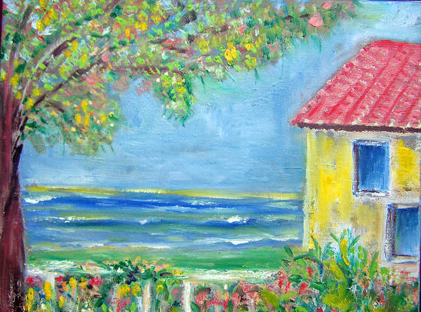 Rood Wall Art - Painting - Seaside Villa by Patricia Clark Taylor