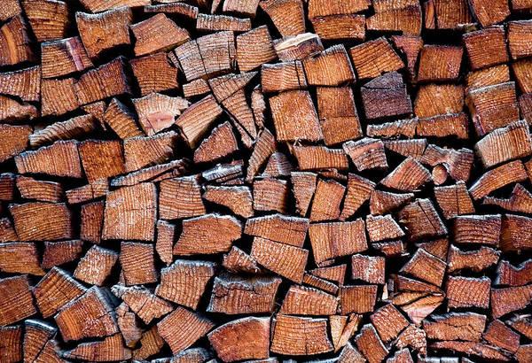 Deep Woods Wall Art - Photograph - Seasoned Firewood Stacking Pattern by Frank Tschakert